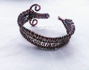 Sword bracelet -Copper bracelet - wirewrapping - wireweaving - Cuff bracelet - made in Jamaica