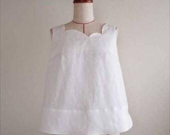 flower bud-sleeve square neck, white-