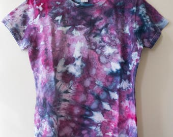M Ladies Purple and Blue Tie Dye Shirt