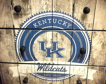 Sugar Coated UK Kentucky Wildcats Custom Made 3 Drawer Chest Nightstand Furniture Art Stunning Addition to your home! New Solid Wood