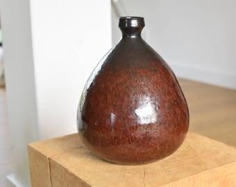 Signed stoneware vase