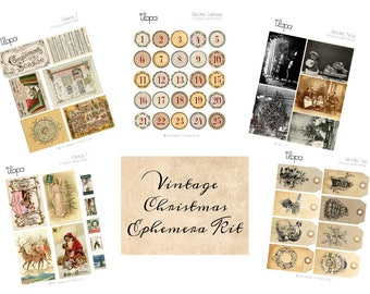 Digital Vintage Ephemera Kit - Vintage Christmas