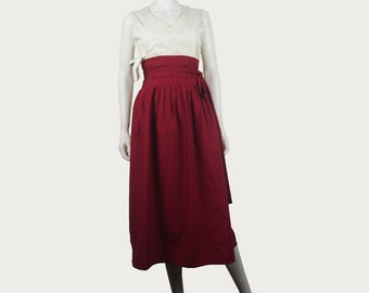 Long Pleated  Linen Skirt,  Hanbok