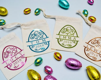 Basket setting etsy easter basket personalised easter treat bags easter decoration place settings easter gifts negle Choice Image