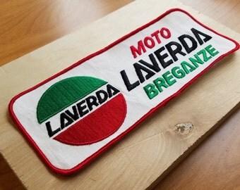 """Laverda """"Moto Laverda Breganze"""" 1970s Vintage Motorcycle Patch"""