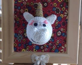 Mini Unicorn Trophy crochet hand made