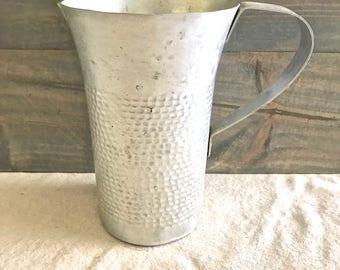 Vintage Aluminum Pitcher- Serving/ Water/ Drink #1