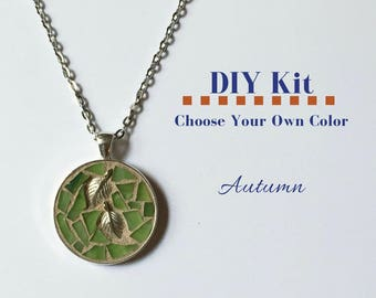 Do It Yourself Necklace Craft, Bridal Shower Activity, Autumn Fun Jewelry Kit, Choose your own colors, Necklace Making kit, Gift under 15