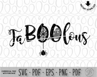 FaBOOlous SVG, Boo SVG, Halloween SVG, Halloween cut file, Halloween dxf, png, eps, svg files for cricut, svg files
