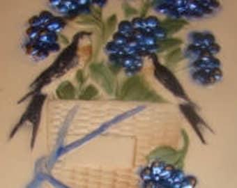 Pretty Vuntage Bird/Floral Postcard