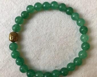 Green Aventurine Stone Bracelet-Large