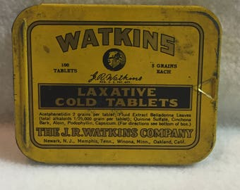 J.R. Watkins Laxative Cold Tablets Tin (#046)