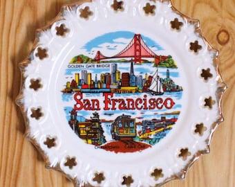 Decorative Vintage San Francisco Souvenir Plate
