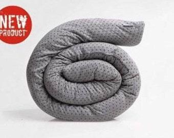 Grey Cot bumper, Baby bumper, Baby pillow, Crib bumper, Snake bumper pad, Denim color, Maternity, Unisex baby gift, Snake bumper pad,