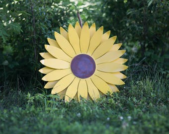 "Sunflower Wall Decoration (24"") - 3D"