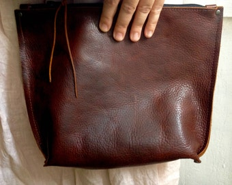 Leather makeup bag - Leather clutch - leather bag - leather clutch bag - leather clutch purse - makeup bag - leather iPad case - clutch