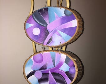 Abstract Hanging Wood Rounds
