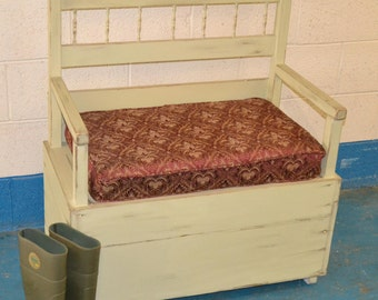 Substantial Storage Bench with Cushion- Collection or Courier Collection Only