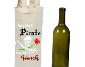Party Like A Pirate Wine Bottle Tote