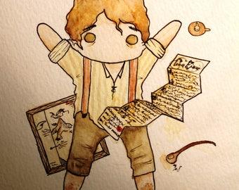 Bilbo Baggins Adventure Print