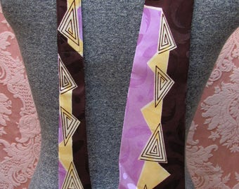 SWING DADDY-O *DEADSTOCK 1940's Abstract Mid-Century Modern Men's Silk Neck Tie