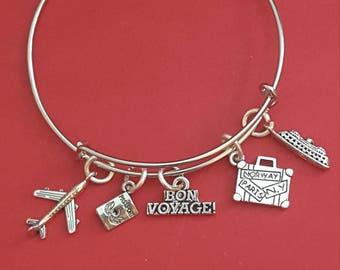 Travel Agent/Stewartess Themed Charm Bracelet
