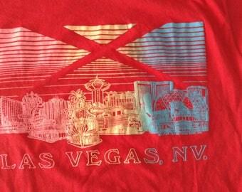 Red vintage Las Vegas Nevada sin City extra large t-shirt 50/50 screen stars