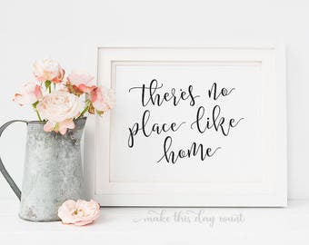 There's No Place Like Home Digital Art, Printable Home Decor, Make This Day Count