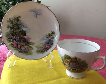 CLEARANCE Royal Vale Cup and Saucer Fine Bone China Vintage  #315