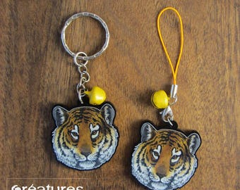 Keychain - Charm - Strap - Tiger portrait