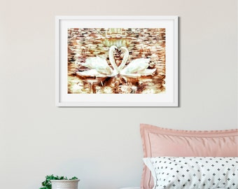swan on the lake printable instant download wall art lake art wall printable wall art decor bedroom wall art decor best selling items