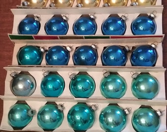 SALE! Eight (8) boxes of Shiny Bright Christmas ornaments, vintage ornaments, Shiny Bright