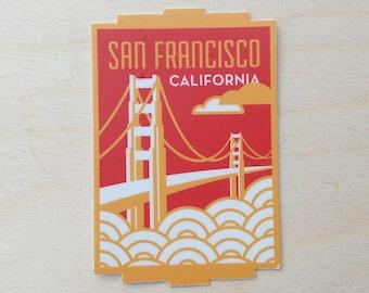 San Francisco California Travel Sticker