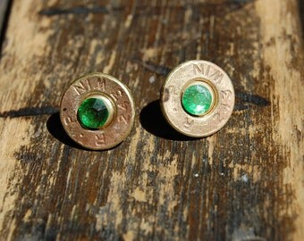 Green 243 Bullet Earrings, 243 Bullet Earrings, Bullet Earrings, Bullet Jewelry, FREE SHIPPING!, CUSTOM, Birthday, Bridesmaid, Wedding
