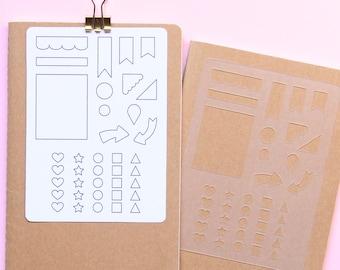 Stencil, Bullet journal, Stencil planner,Planner template, Personal planner, habit tracker stencil, checklist template
