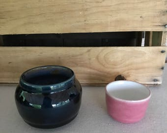Blue Bowl and Pink bowl