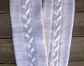 Women's leg warmers, double drops alpaca yarn