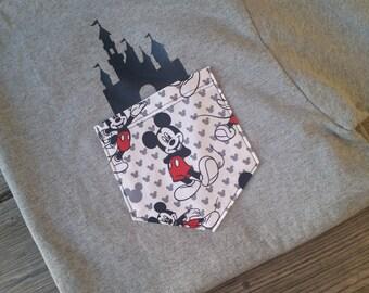 Disney shirt / Disney Vacation Shirt / Disneyland shirt / Disney World Shirt / Epcot Shirt / Happiest Place on Earth / Disney Pocket Tee
