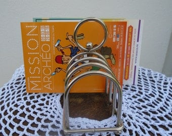 French vintage - silver toast rack