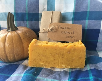 Pumpkin Oatmeal Soap, Hot Process Soap