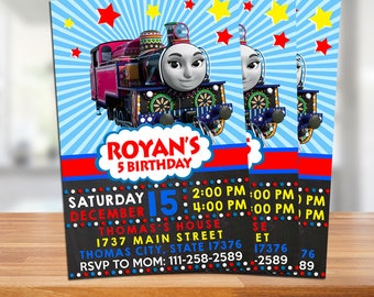 Thomas The Train Invitation / Thomas The Train Birthday / Thomas The Train Birthday Invitation / Thomas Train Party