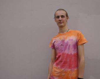 Homemade T-shirt ROLLING STONES, batik