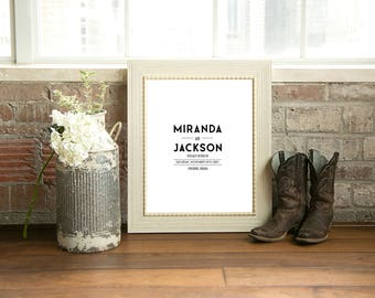Wedding Guestbook Alternative- Have your guests sign this personalized print- Signature Board- Custom Wedding Art- Modern Minimal Design