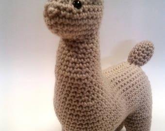 Latte Llama Amigurumi Plush Toy
