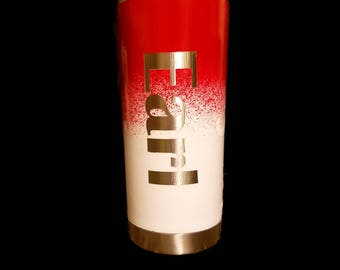 Personalized Red & White Ombre Tumbler - Ombre Tumbler - Alabama Cup - Red and White Tumbler - Personalized Tumbler