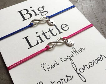 Big little sorority, big little gift, big little bracelet, Friendship Bracelet, Big and little sorority, sorority gifts, Sister gift, ZA20