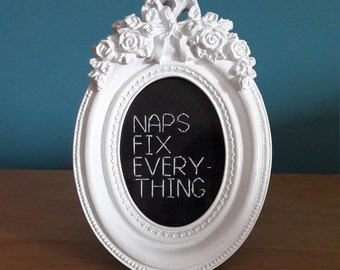 Naps fix everything completed cross stitch, baby shower gift, birthday gift, new home gift