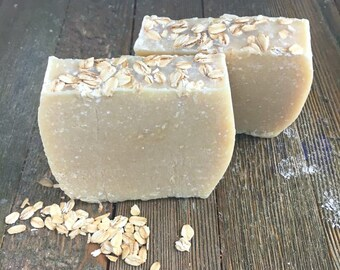 Unscented Colloidal Oats Soap, Unscented Oatmeal Soap, Sensitive Skin Soap, Oatmeal Soap, Dry Skin Soap, Soap for Psoriasis,Unscented Soap,