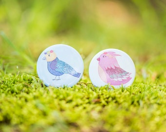 Fairy Princess Birds, button pack