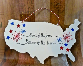 4th of July Home Decor Sign
